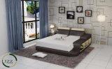 記憶を用いる現代家具の革ベッド