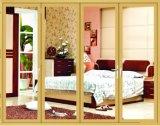Portello di legno di colore del legname di stile dell'Europa, piegante/portello di vetro provvisto di cardini