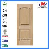 Piel moldeada madera natural casera de la puerta de la chapa de Brich HDF (JHK-S03)