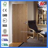 El interior de madera enrasado moldeó para las puertas de madera de la chapa de la venta (JHK-F01)