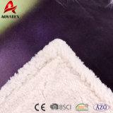 L'alta qualità ha stampato piega generale di Micromink la doppia, Sherpa ha lavorato a maglia la coperta