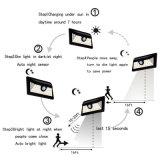 La lumière solaire IP65 de 34 DEL imperméabilisent la lumière grande-angulaire de détecteur de mouvement de garantie avec le mouvement de 3 modes activé pour le jardin extérieur