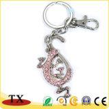 Diamante-Delimitato con la catena chiave del metallo delle catene per il regalo di promozione