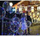 شفّافة منطاد [لد] خيط ضوء لأنّ عيد ميلاد المسيح زخرفة