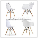 Стиль Tulip кресло из стекловолокна белого цвета с желтыми подушки сиденья