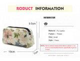 Перемещение мешка косметик застежки -молнии мешков состава женщин печатание цветков и листьев перемещения мешка способа косметическое женское составляет мешок случая