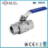 Ligero 2PC Válvula de bola de acero inoxidable para tratamiento de agua