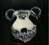 Panda tricoté main tricoter Beanie Hat, perlé, la main coiffure