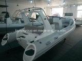 Vente gonflable rigide de bateau de sauvetage de coque de fibre de verre de Liya 520cm