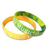 Bestes verkaufensilikon-Charme-Armband, Förderung-Gummihandgelenk-Band (XD-WB-04)