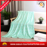 Одеяло ватки фланели изготовленный на заказ дешевого младенца полиэфира приполюсное с логосом