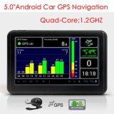 """熱い5.0 """"クォードのコアGPS SatnavのIPSの小型アンドロイド6.0手持ち型車のトラック海洋GPSの運行800のMHz CPUのFMの送信機、GPSの航法システム、追跡者、Wif"""