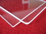Placa de cristal clara cuadrada de silicona fundida