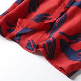 Il Flounce di seta del vestito delle nuove donne con i manicotti svasati ha stampato la camicia dei manicotti di Shirting