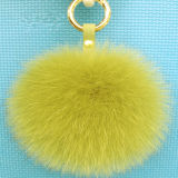 Пушистый Pompom Keychain шарика шерсти Fox