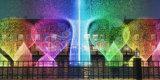 3D effettua la fontana di acqua di Dancing di musica dell'ugello dell'oscillazione di Digitahi