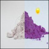 Фотохромный цвет порошка изменил после пигмента ультрафиолетового света