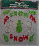 La navidad de la ventana Glitter Jelly xm-C-1062 del árbol de Navidad