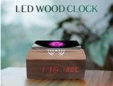 Alarm를 가진 무선 Charging Wood Table Digital Clock