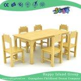 학교 시골풍 나무로 되는 장방형 테이블 및 의자 가구 (HG-3903)