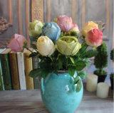 Fiori falsi dei fiori cinesi di seta della Rosa dei fiori artificiali che Wedding fornitore Rosa Ivory artificiale