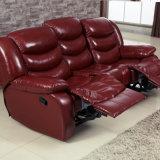 Insieme comodo del sofà di Cornor del cuoio del Recliner dei 1+3 saloni