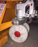 Hand Scissor des hohen Aufzug-3t Nylonrad-hydraulischen Handladeplatten-LKW-Gabelstapler