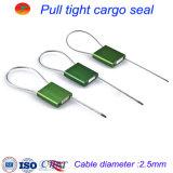 Metal inalterable que ata con correa los sellos del alambre para los envases del carro