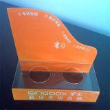 Étalage sonore de Plasitc/visuel acrylique fait sur commande de sonnette/présentoir sans fil de sonnette