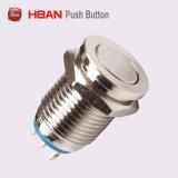12mmの超平面の金属の押しボタンスイッチ