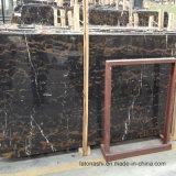 Donker Bruin Marmer met Gouden Aders voor Countertop Plakken en de Tegels van de Vloer