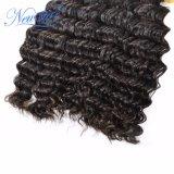インドの深い波は漂白することができたりまたはバージンの人間の毛髪を染めた