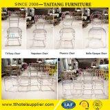 A cadeira desobstruída transparente Wedding do policarbonato da cadeira bate para baixo a cadeira