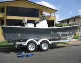 Liya 5.8meter jeûnent vente de bateaux de Panga de console centrale de bateau de pêche