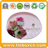 Bidons ovales de empaquetage de savon de cadre en métal de festival pour des cadeaux de mariage
