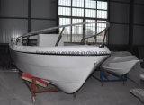 Liya 5.0mのガラス繊維の漁船のパンガ刀のボートの白い漁船
