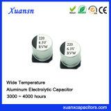 6.3V 220UF 3000hours 105º Condensador electrolítico de aluminio de C SMD