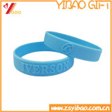 Logotipo estampado personalizado Pulsera pulsera de silicona para la decoración de regalos