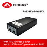 48V High-Power Passieve Poe Injecteur van Gigabit voor de Camera's van HD IP
