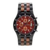 2018 Houten Horloge van de Chronograaf van het Embleem van de Douane van de Manier het Met de hand gemaakte
