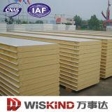 Panneau de toit ou de mur de sandwich à PU/Polyurethane pour la construction de structure métallique