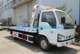 6 de Vrachtwagen van het Slepen van het Platform van wielen 120HP voor de Terugwinning van de Weg