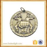 La aleación crea la medalla antigua del oro para requisitos particulares 3D