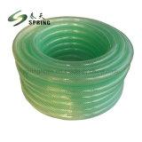 Água de plástico de PVC trançado de fibra de mangueira de jardim