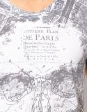 デザイン人の綿のスコップの首の涼しいTシャツ