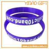 Qualität kundenspezifische gedruckte Firmenzeichen-Silikon-Klaps-Armbänder (YB-LY-WR-45)