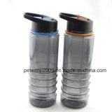 Настраиваемые 750мл пластмассовые Hand-Held пространства соломы бутылка воды