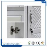 Couleur blanche en bois de cabinet matériel de garde-robe de PVC de forces de défense principale avec 3 portes
