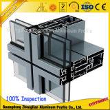 Mur rideau en aluminium anodisé par 6063t5 de fournisseur de la Chine