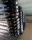 Pegs de alumínio da cremalheira do vinho da cremalheira fixada na parede moderna da adega de vinho